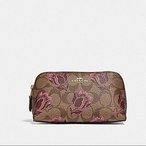 Coach COSMETIC CASE 17 WITH DESERT TULIP PRINT
